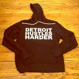 Detroit Hustles Harder size M black hoodie